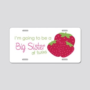 Berry Sister 2B Twins Aluminum License Plate