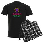 Autism Awareness Men's Dark Pajamas