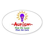 Autism Awareness Sticker (Oval 50 pk)