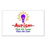 Autism Awareness Sticker (Rectangle 50 pk)