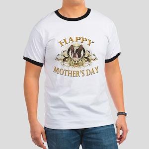 Happy Mother's Day Boston Terrier Ringer T