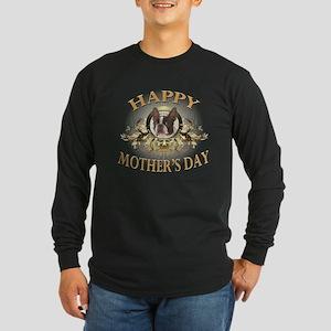 Happy Mother's Day Boston Terrier Long Sleeve Dark