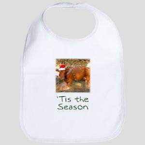 Cow Christmas Bib