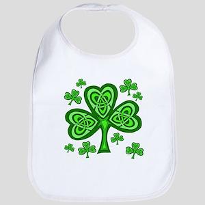 Celtic Shamrocks Bib