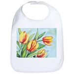 Tulips Watercolor Bib