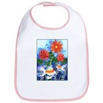 Fish and Flowers Art Bib