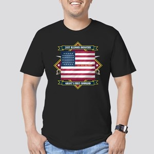 21st Illinois Infantry Men's Fitted T-Shirt (dark)
