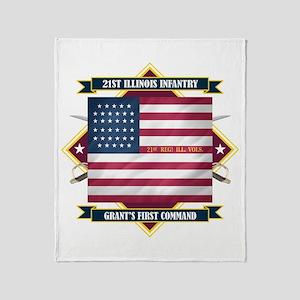 21st Illinois Infantry Throw Blanket