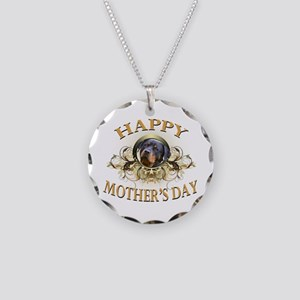Happy Mother's Day Rottweiler2 Necklace Circle Cha