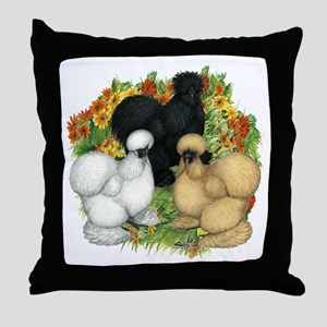 Flower Garden Silkies Throw Pillow