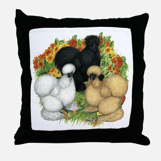Flower Garden Silkies Throw Pillow