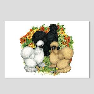Flower Garden Silkies Postcards (Package of 8)