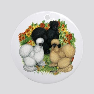 Flower Garden Silkies Ornament (Round)