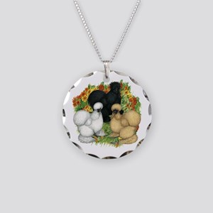 Flower Garden Silkies Necklace Circle Charm