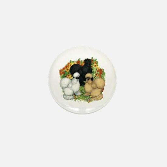 Flower Garden Silkies Mini Button