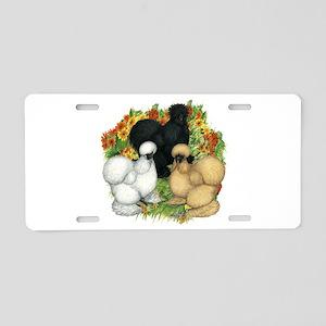 Flower Garden Silkies Aluminum License Plate