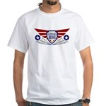 Paper Airplane Flight School White T-Shirt