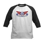 Paper Airplane Flight School Kids Baseball Jersey