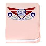 Paper Airplane Flight School baby blanket