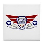 Paper Airplane Flight School Tile Coaster