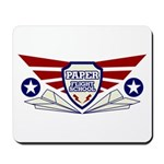 Paper Airplane Flight School Mousepad