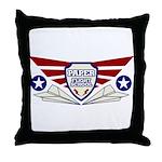 Paper Airplane Flight School Throw Pillow