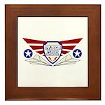 Paper Airplane Flight School Framed Tile