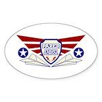Paper Airplane Flight School Sticker (Oval)