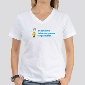 Mysterious Mr. M Women's V-Neck T-Shirt