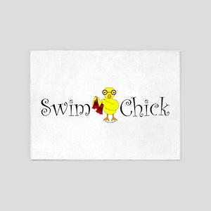 Swim Chick Narrow 5'x7'Area Rug