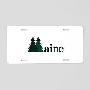 Maine Pine Tree Aluminum License Plate