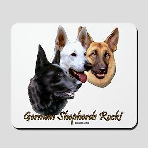 German Shepherds Rock Mousepad