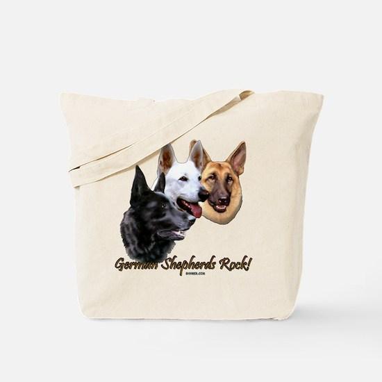 German Shepherds Rock Tote Bag