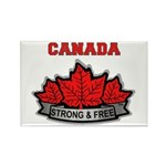 Canadian Pride STRONG & FREE Rectangle Magnet