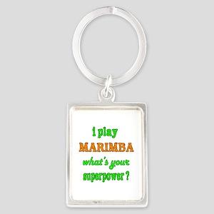 I play Marimba what's your super Portrait Keychain