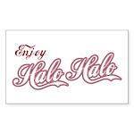 Enjoy Halo Halo Rectangle Sticker