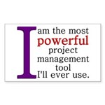 Project Management Tool Sticker (Rectangle)