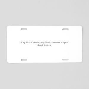 Joseph Smith, Jr. Aluminum License Plate