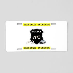 Police Crime Scene Aluminum License Plate
