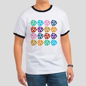 45 RPM Record Adapter Pop Art Ringer T-Shirt