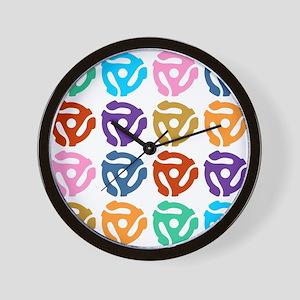 45 RPM Record Adapter Pop Art Wall Clock