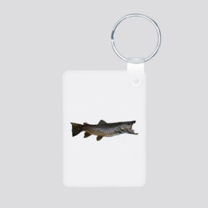 Brown trout Aluminum Photo Keychain