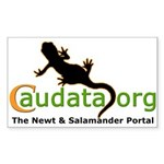 Rectangular sticker with the Caudata.org Logo