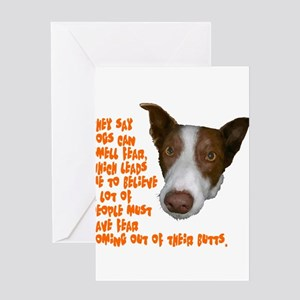 Dogs smell fear Greeting Card