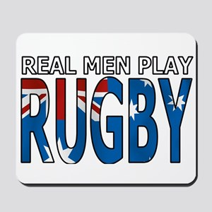 Real Men Rugby australia Mousepad