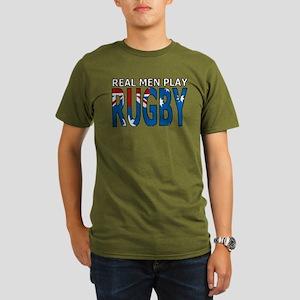 Real Men Rugby australia Organic Men's T-Shirt (da