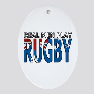 Real Men Rugby australia Ornament (Oval)