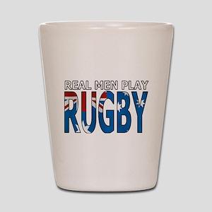 Real Men Rugby australia Shot Glass