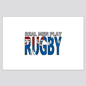 Real Men Rugby australia Large Poster