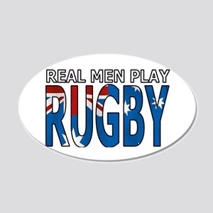 Real Men Rugby australia 22x14 Oval Wall Peel